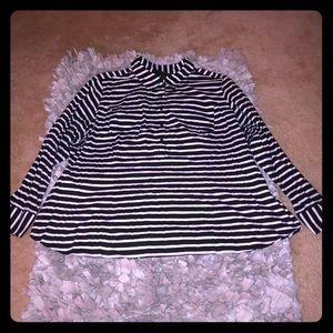 Lane Bryant Sz 26/28 Black&White Stripe Top